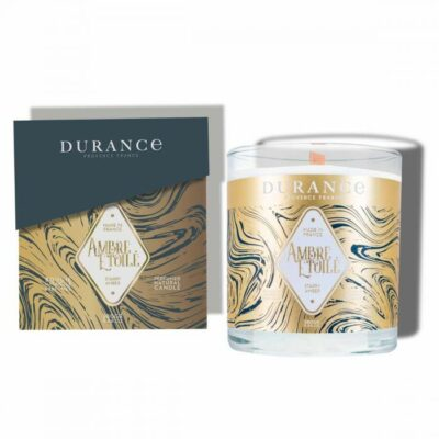 Durance mirisna svijeća s drvenim fitiljem mirisa Zvjezdani jantar