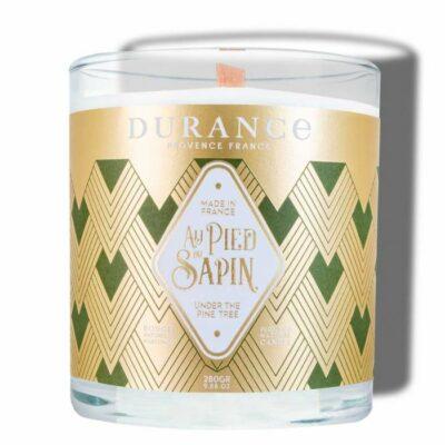 Durance mirisna svijeća s drvenim fitiljem mirisa Pod borom